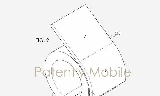 Samsung получила патент на смарт-браслет с гибким дисплеем