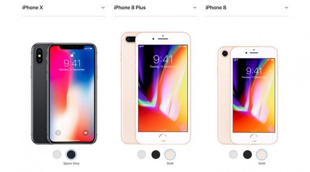Новинка Apple iPhone 8/ 8 Plus  имеет больше поклонников, чем модель X