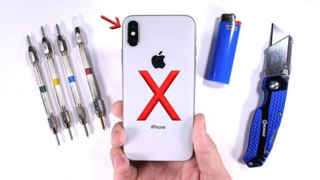 Смартфон iPhone X отлично прошёл испытания JerryRigEverything