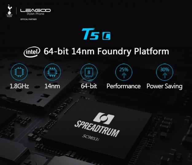 LEAGOO T5c - первый в мире смартфон на процессоре Spreadtrum SC9853i