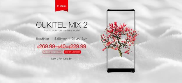 OUKITEL MIX 2 за $ 229.99 против  XIAOMI MIX 2: сравниваем внешность и производительность
