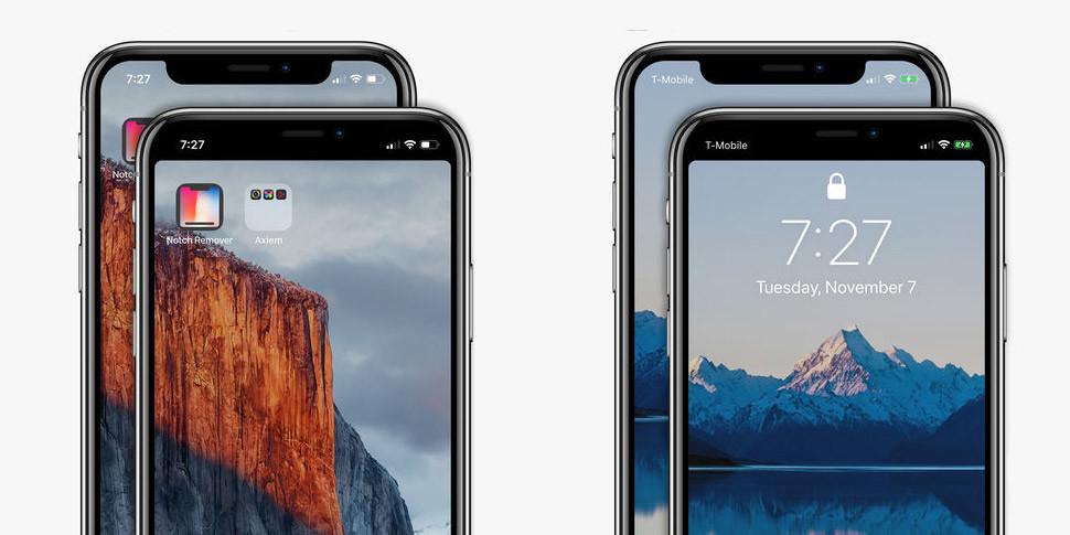 Появилось приложение, лишающее iPhone X «недостатка» — «козырька» вверху