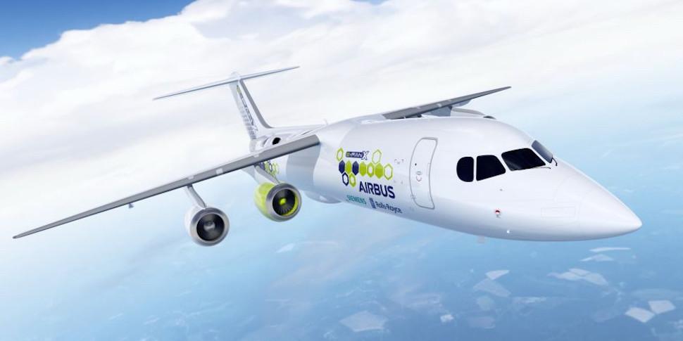 Airbus, Rolls-Royce и Siemens делают гибридный самолет с электродвигателем