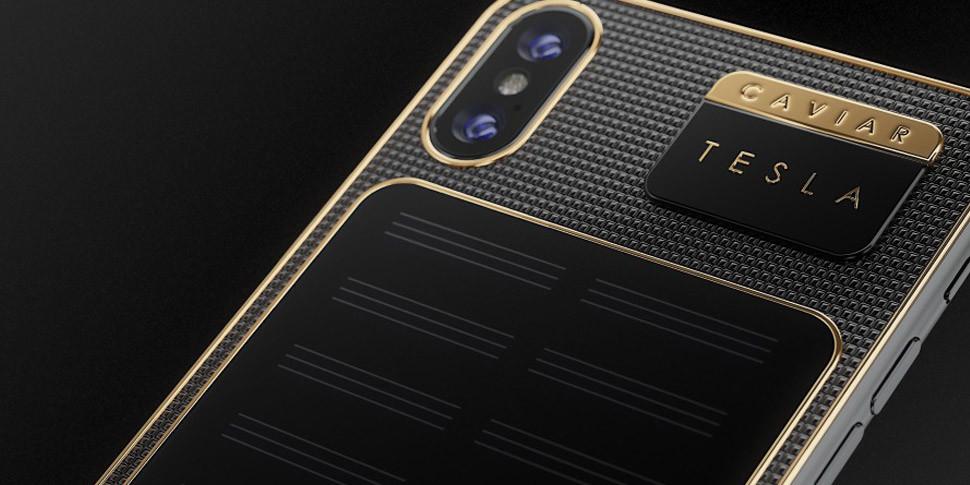 Бренд Caviar анонсировал iPhone X Tesla с зарядкой от света за $4400