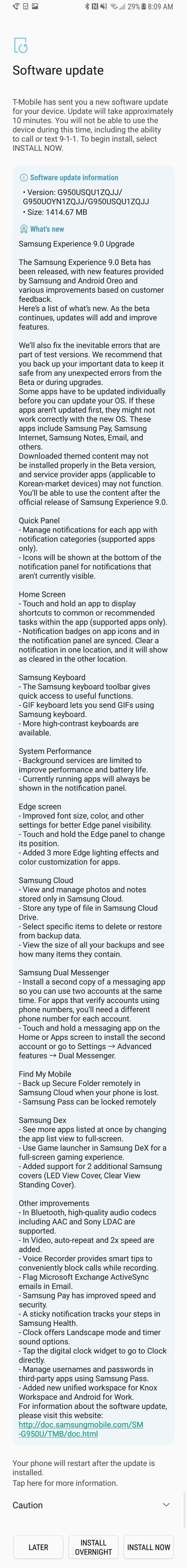 Samsung запустила бета-тестирование Android 8.0 для Galaxy S8 и S8+