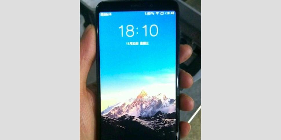 Появились изображения нового смартфона Meizu. Экран почти без рамок