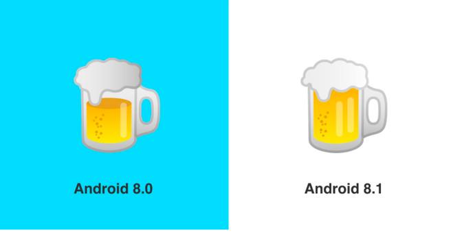 Google исправит бургер и пиво в Android 8.1