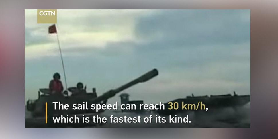 Китайцы показали самый быстрый в мире танк-амфибию