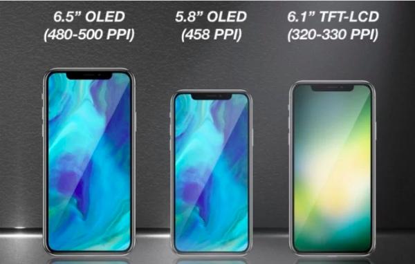 В 2018 году выйдут два iPhone с OLED-дисплеями и один с LCD-экраном