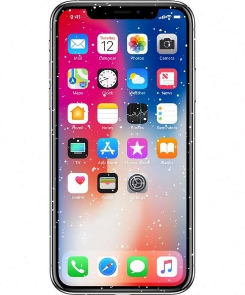Экран смартфона Apple iPhone X боится холода