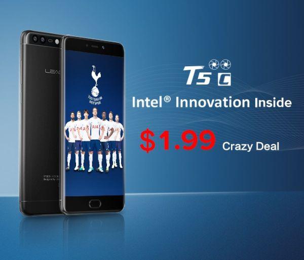 Успей заказать смартфон LEAGOO T5c всего за $2!