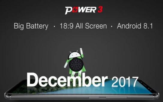 Смартфон Ulefone Power 3 получит Android 8 из коробки