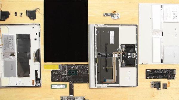 Ремонтопригодность ноутбука Microsoft Surface Book 2 оказалась почти нулевой