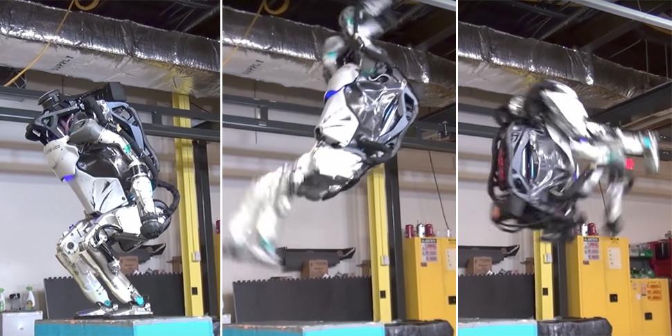 Видеофакт: робот делает сальто, как начинающий «ямакаси»