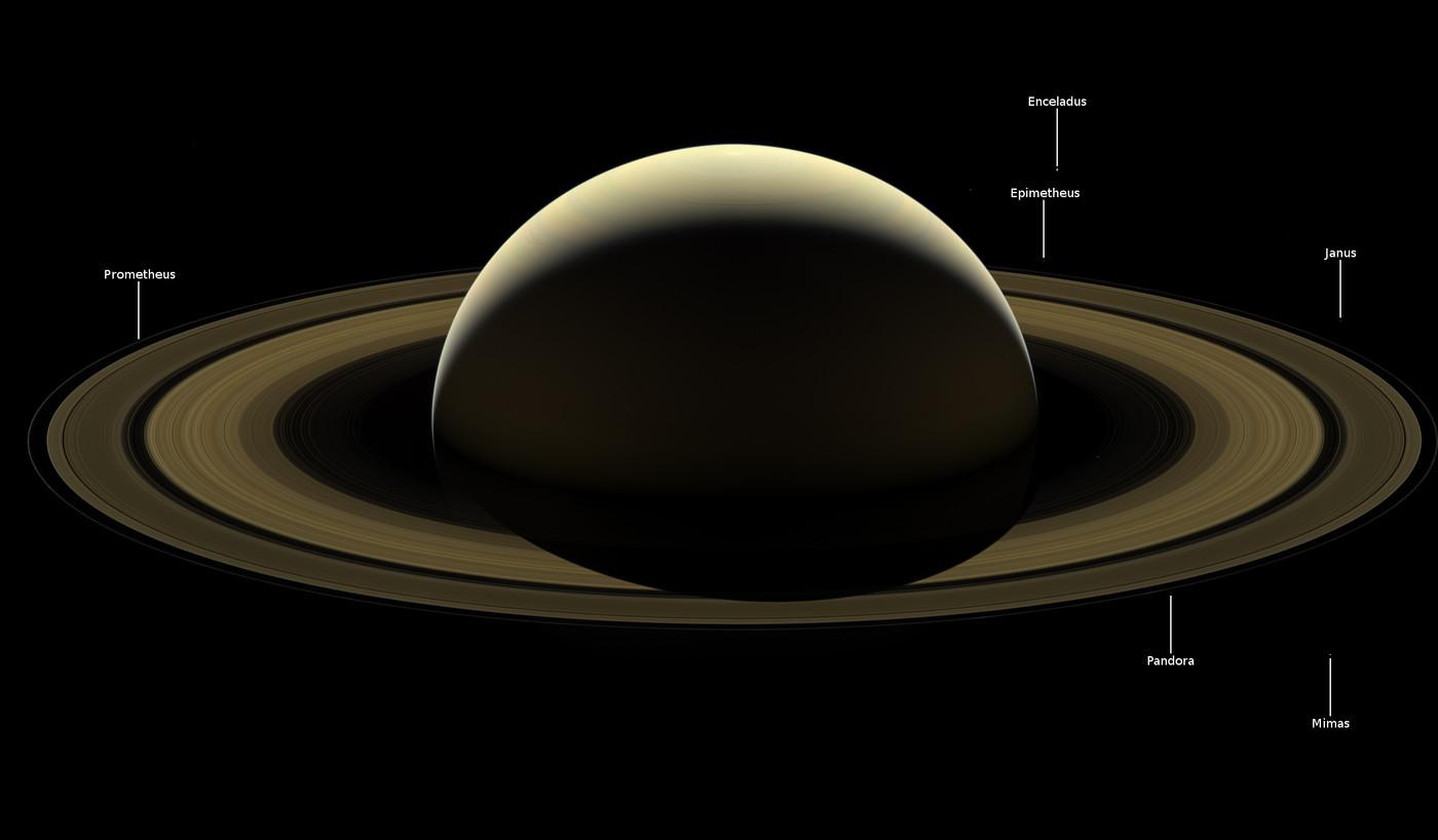 NASA опубликовало прощальный портрет Сатурна от почившего аппарата Cassini