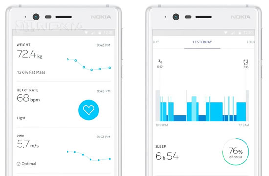 Приложение Nokia Health Mate получило историю активности за месяц