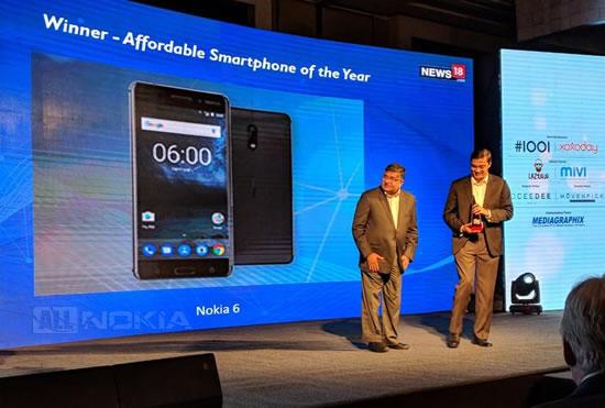 """Nokia 6 получил награду """"Доступный смартфон года"""""""