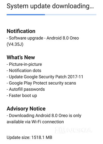 Смартфоны Nokia 8 обновляются до Android Oreo