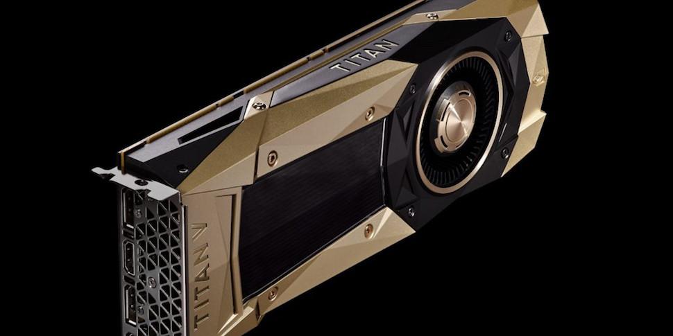 NVIDIA представила видеокарту Titan V за $3000