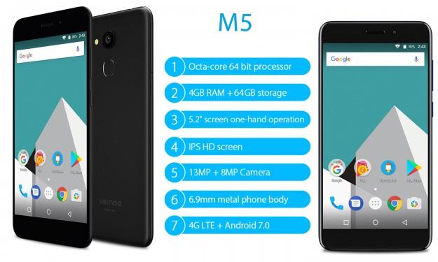 Товар дня: Vernee M5 - 9.19 и только 5 дней за смартфон в металле с 4 ГБ ОЗУ и 64 ГБ памяти