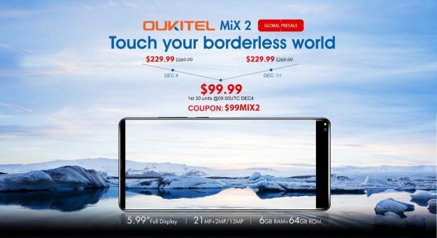 OUKITEL MIX 2 доступен на Gearbest за $99.99 в ограниченном количестве