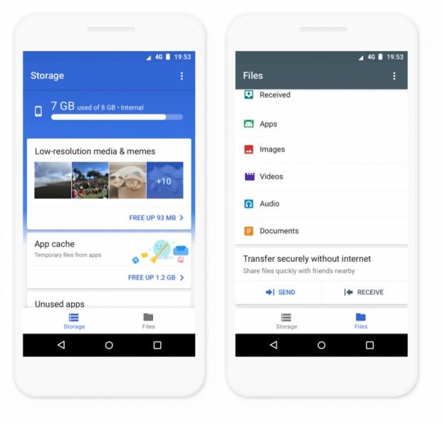 Google выпустила Files Go для чистки памяти смартфонов