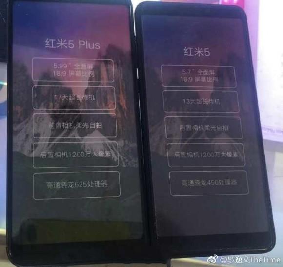 Рассекречены основные характеристики Xiaomi Redmi 5 и Redmi 5 Plus
