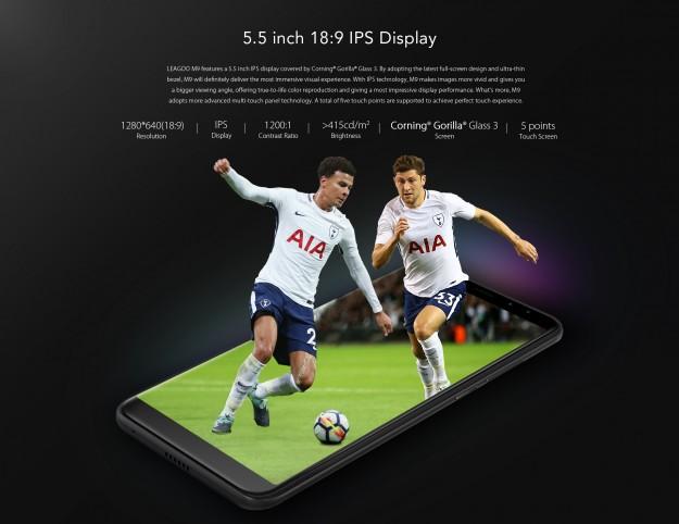 Предпродажа LEAGOO M9: 20% скидки на покупку бюджетного полноэкранного смартфона с 4-мя камерами!
