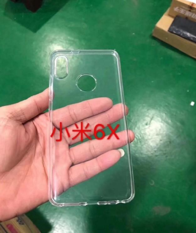 Чехол для Xiaomi Mi6X с вырезом под камеру в стиле iPhone X на фото