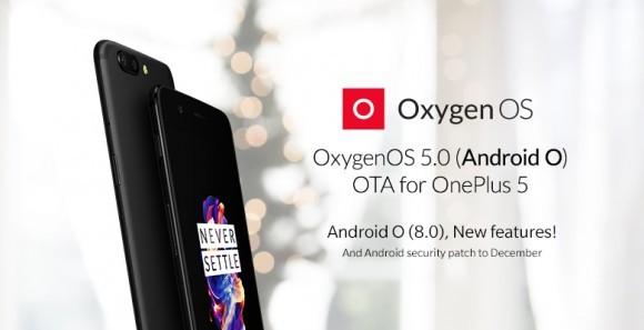 Смартфон OnePlus 5 начал обновляться до Android 8.0 Oreo