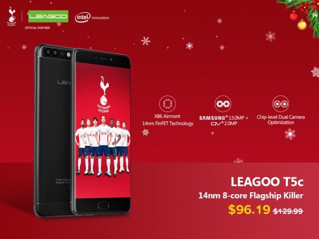Leagoo поздравляет с Рождеством и дарит скидку $35 на T5c