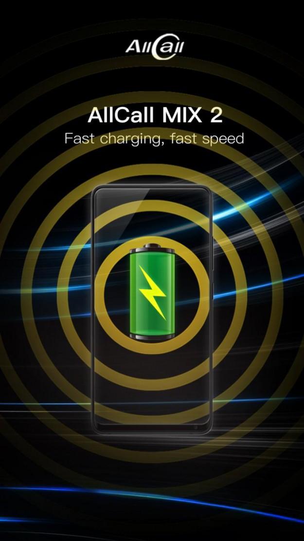 Смартфон AllCall Mix2 должен получить быструю зарядку