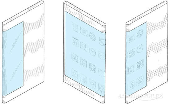 Samsung зарегистрировала патент смартфона с необычным экраном