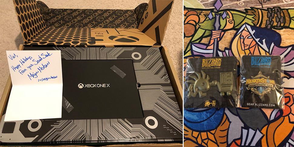 Пользователи Reddit показали подарки от «тайного Санты» из Microsoft и Blizzard