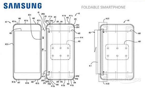 Samsung запатентовала мобильное устройство с двумя экранами