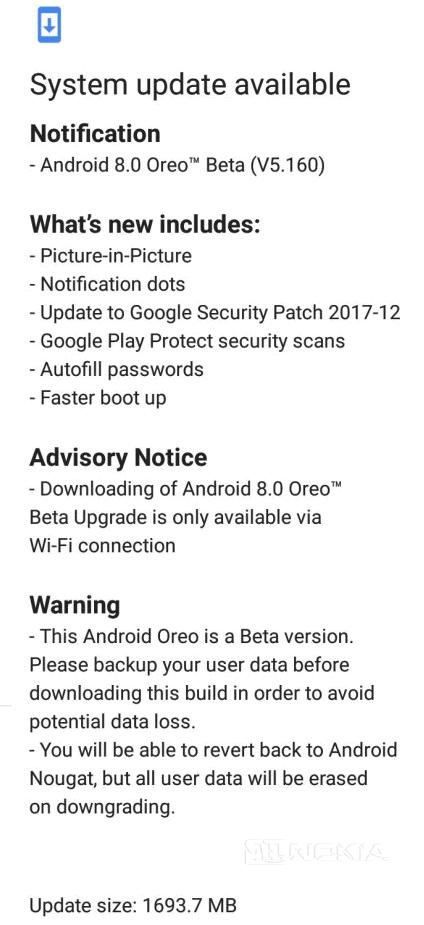 Nokia 5 получает новую сборку Android Oreo Beta