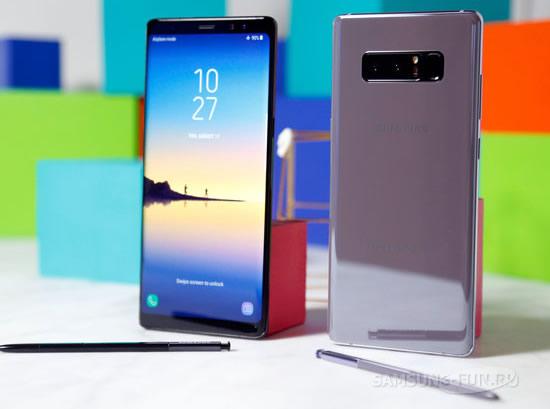 В смартфоне Samsung  Galaxy Note 8 отмечается проблема с аккумулятором