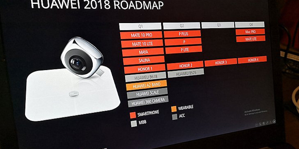 В сеть утекла информация о линейке гаджетов Huawei 2018 года