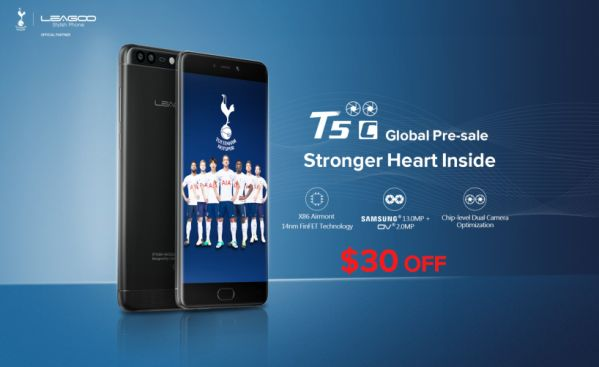 Предпродажные скидки: закажите смартфон LEAGOO T5c и сэкономьте $30