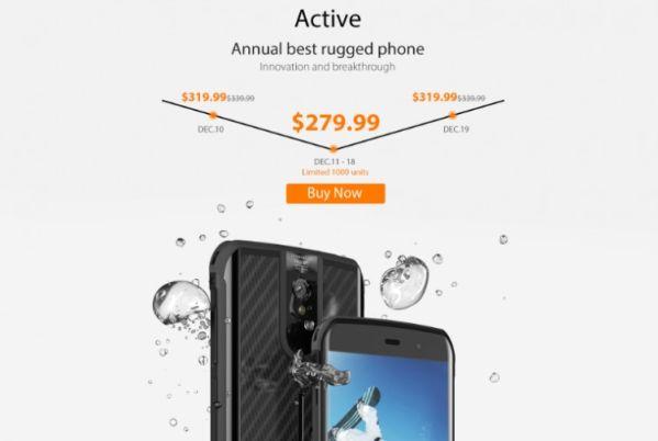 Смартфон Vernee Active доступен с солидной скидкой