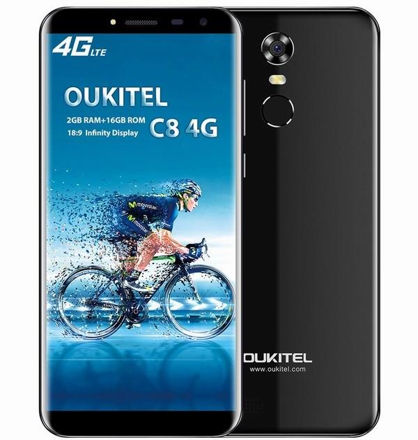 Распродажа в TomTop: цена безрамочного смартфона OUKITEL C8 упала ниже $80