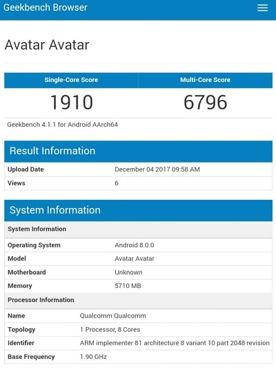 В Geekbench замечен флагманский смартфон Nokia 9