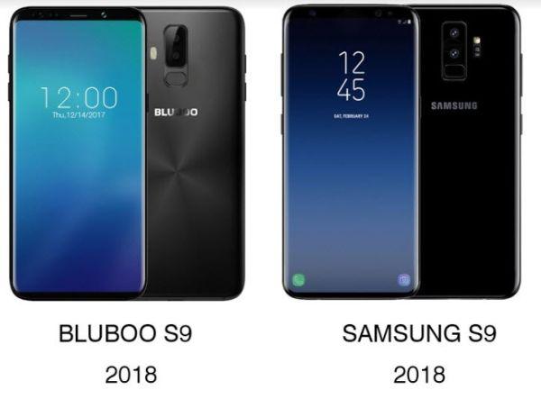 Китайский смартфон Bluboo S9 скопирован с Samsung S9
