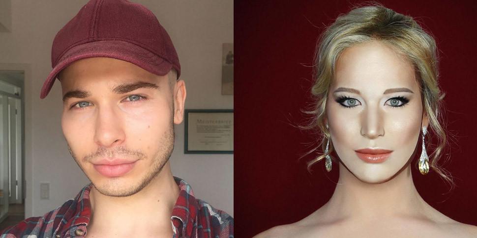 Британец научился превращаться в знаменитостей с помощью макияжа