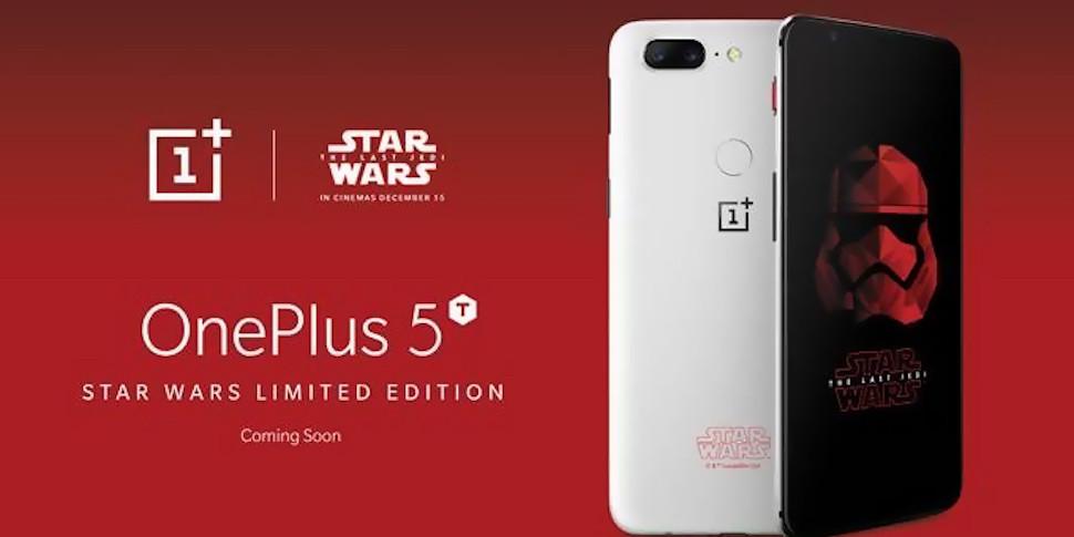 Представлен смартфон OnePlus 5Tдля фанатов «Звездных войн»