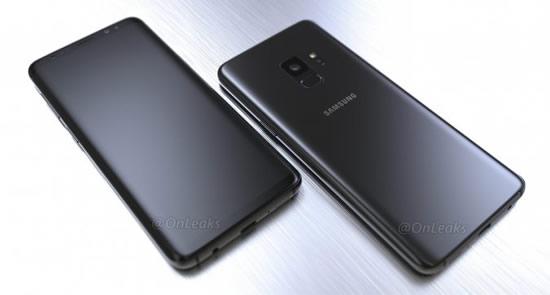 Рендеры смартфона Samsung Galaxy S9 в черном цвете