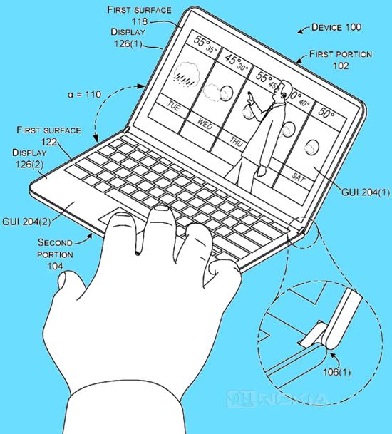 Схемы Surface Phone замечены в очередном патенте