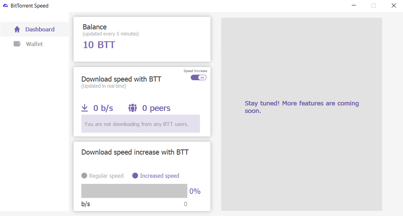 Вышел клиент uTorrent с BitTorrent Speed и токенами
