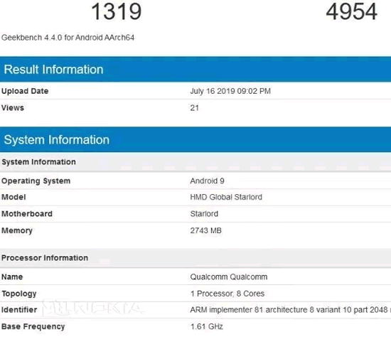 Nokia 6.2 замечен в Geekbench: Snapdragon 660 и 3 Гб RAM